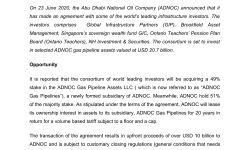 "MATRADE's Insight "" Abu Dhabi Announces USD20.7 Bilion Investment in Gas Pipeline"""